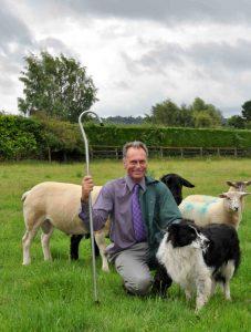 Chris Farnsworth with sheepdog Fen in Bromham